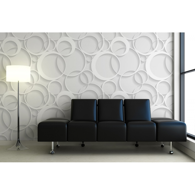 D coration murale effet 3d papier peint contemporain - Papier peint a effet d optique ...