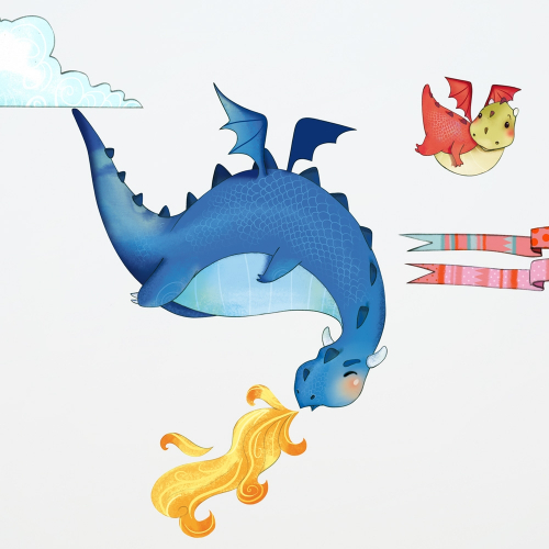 Dragons wall stickers