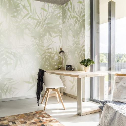 Bamboo Shadows Panoramic Wallpaper