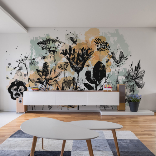 Papier peint panoramique Fleurs des Champs
