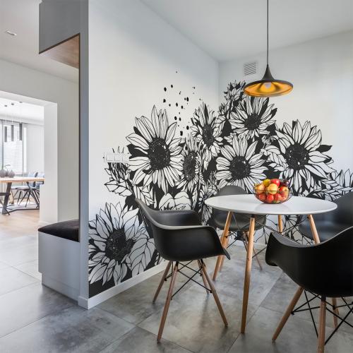 Sunflower panoramic wallpaper