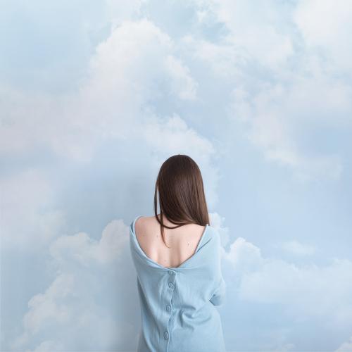 Papier peint panoramique Cloudy blue