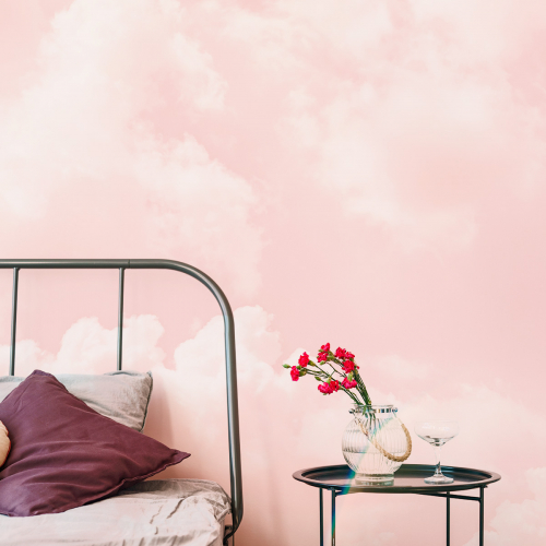 Papier peint panoramique Cloudy pink