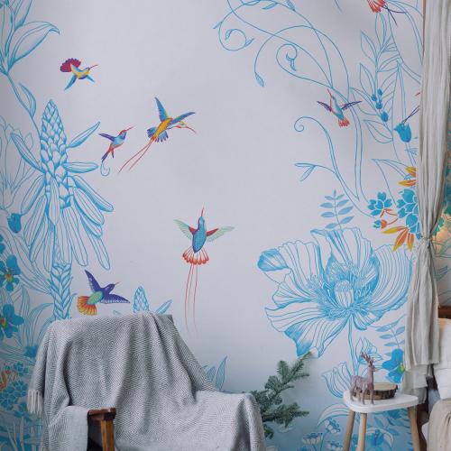 Soaring hummingbirds wallpaper