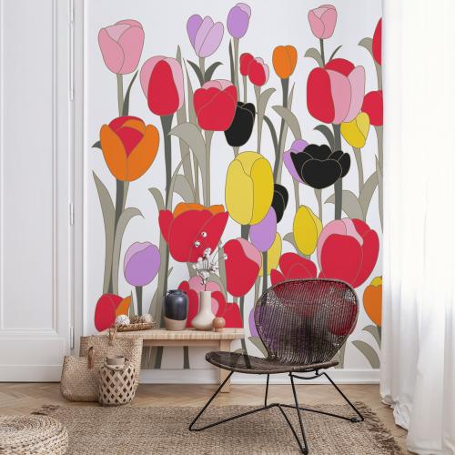Papier peint panoramique Tulipes