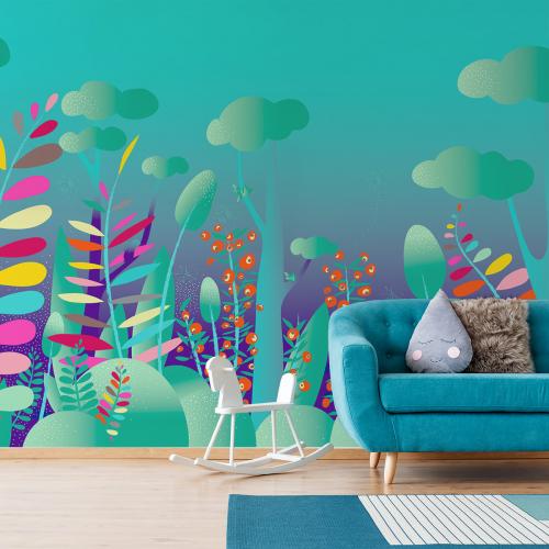 Papier peint panoramique Dans la forêt