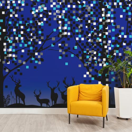 Deer panoramic wallpaper