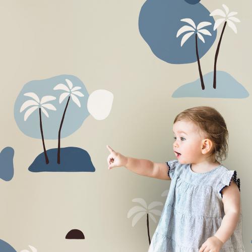 Papier peint panoramique Palmiers BB