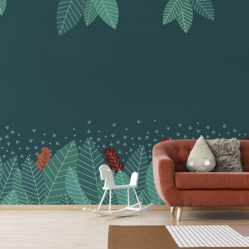 Small enchanted forest wallpaper