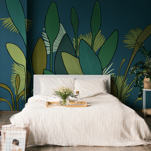 Vegetal panoramic wallpaper