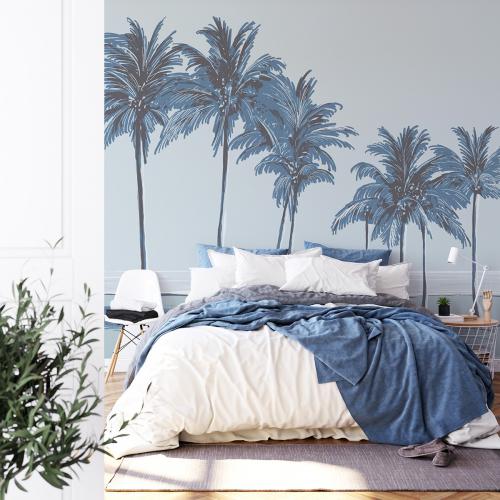Palm trees panoramic wallpaper