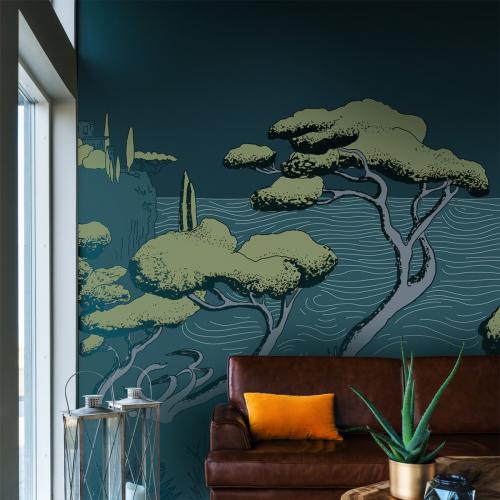Calanques panoramic wallpaper
