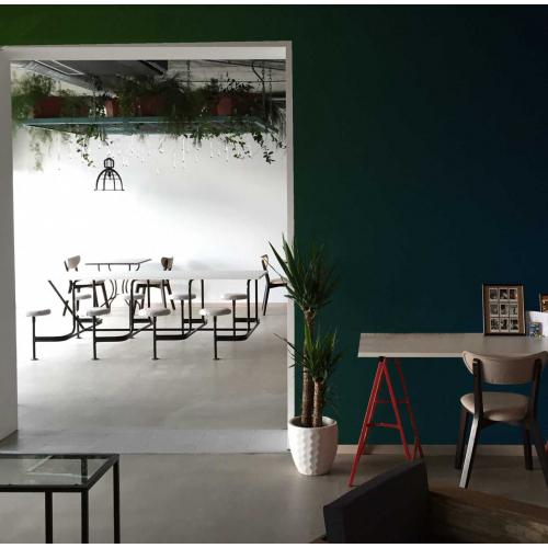 Color gradient panoramic wallpaper