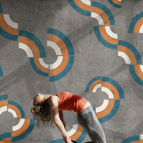 Graphic circles panoramic wallpaper