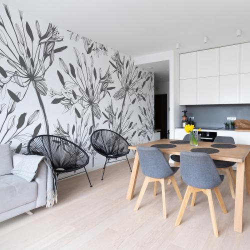 Panoramic wallpaper Graphic flower