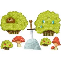 Bushes and mushrooms