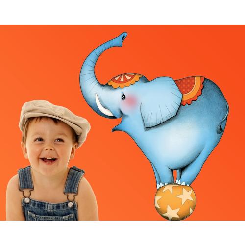 Circus 1 - Stickers l'éléphant
