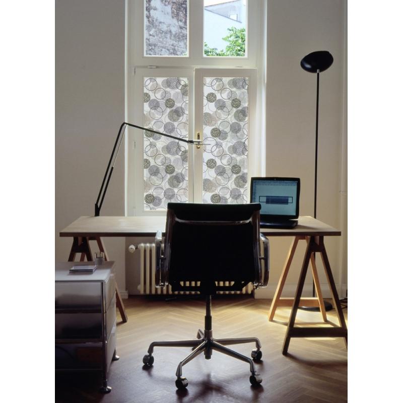 film d coratif pour vitres cercles. Black Bedroom Furniture Sets. Home Design Ideas