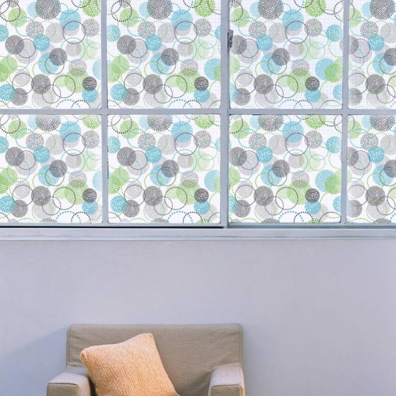 film d coratif pour vitres cercles 2. Black Bedroom Furniture Sets. Home Design Ideas