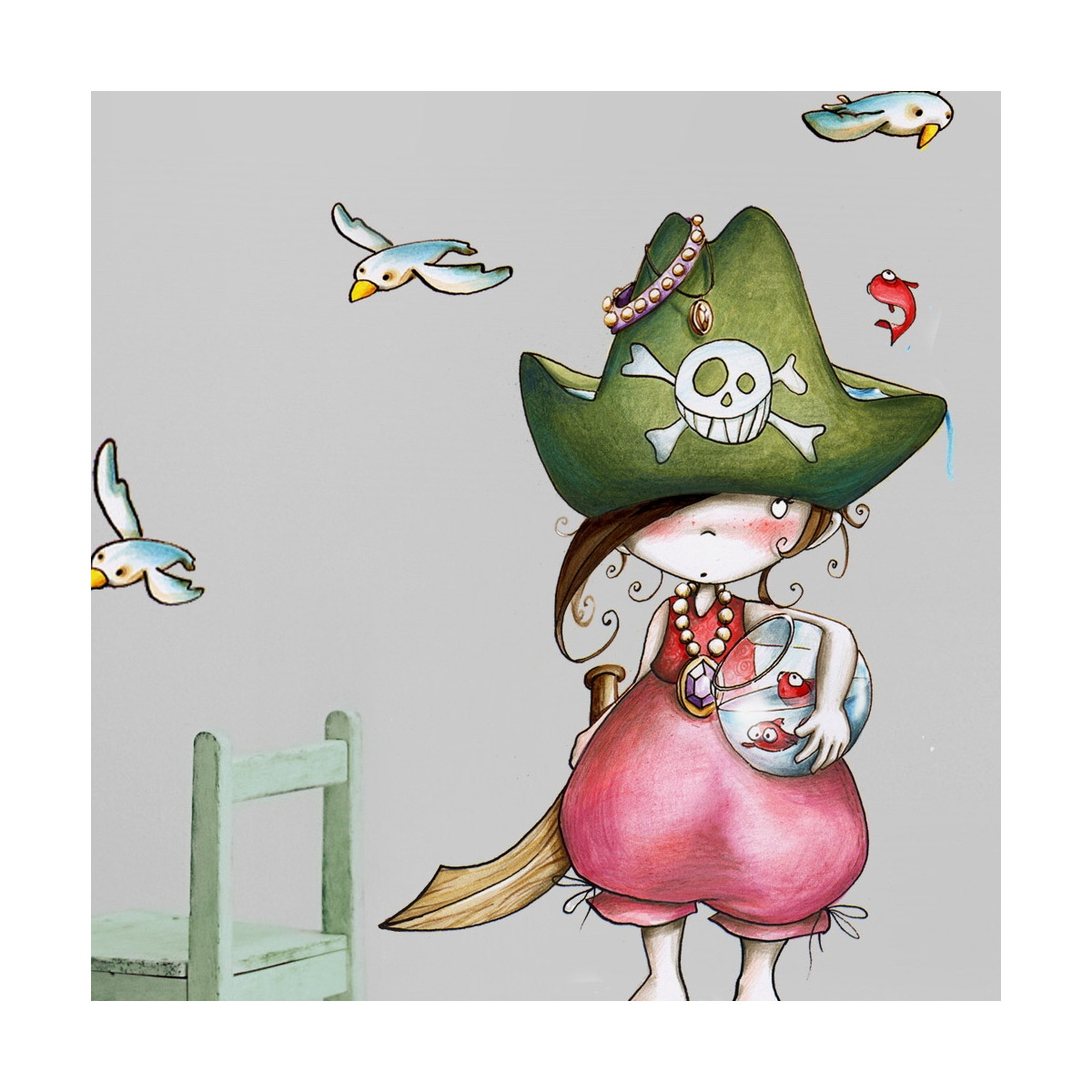 Pirata stand up wall stickers