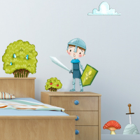 Bushes and mushrooms wall stickers