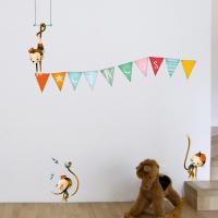 Monkeys accrobates wall stickers