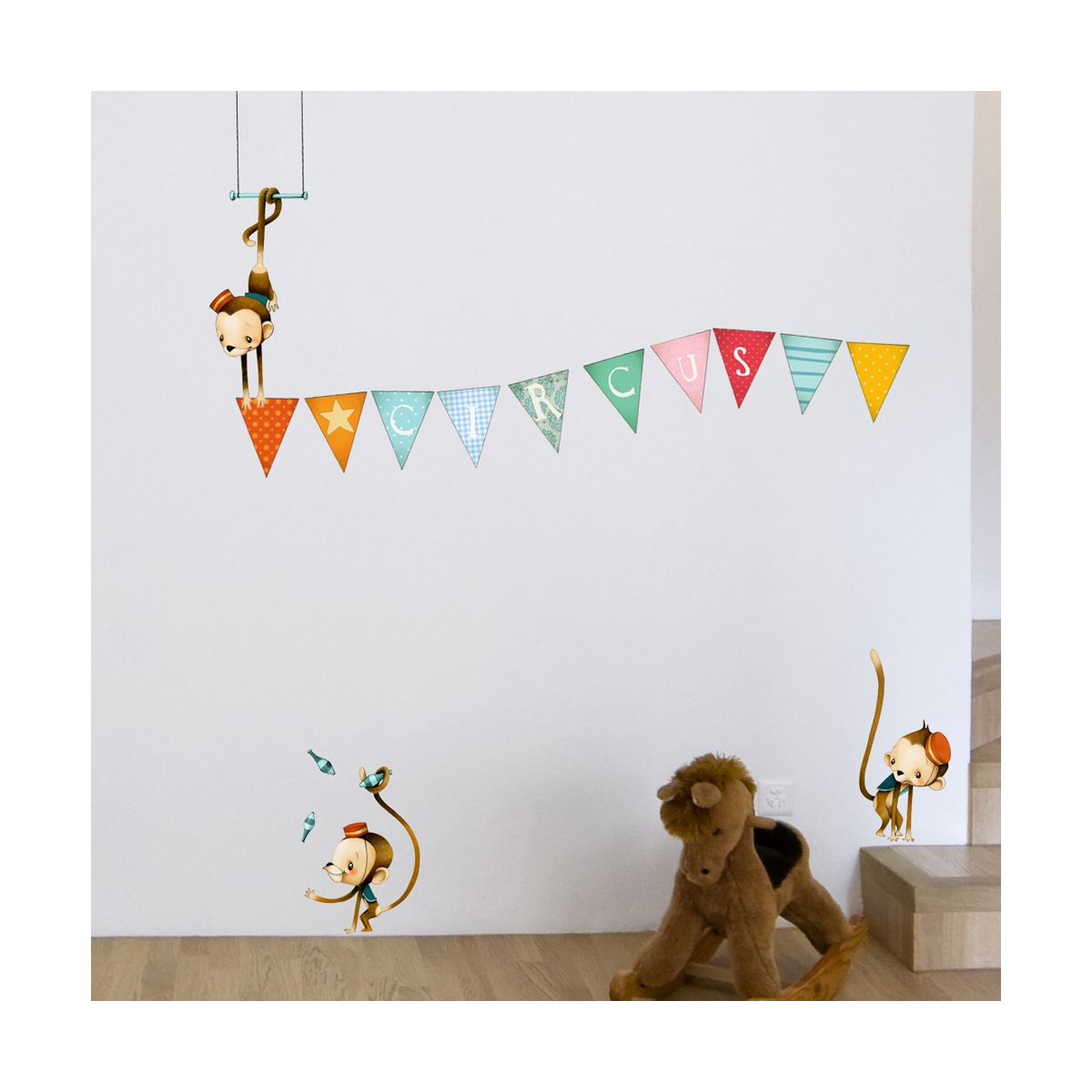 Monkeys accrobates wall stickers