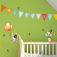 Flying circus board wall stickers