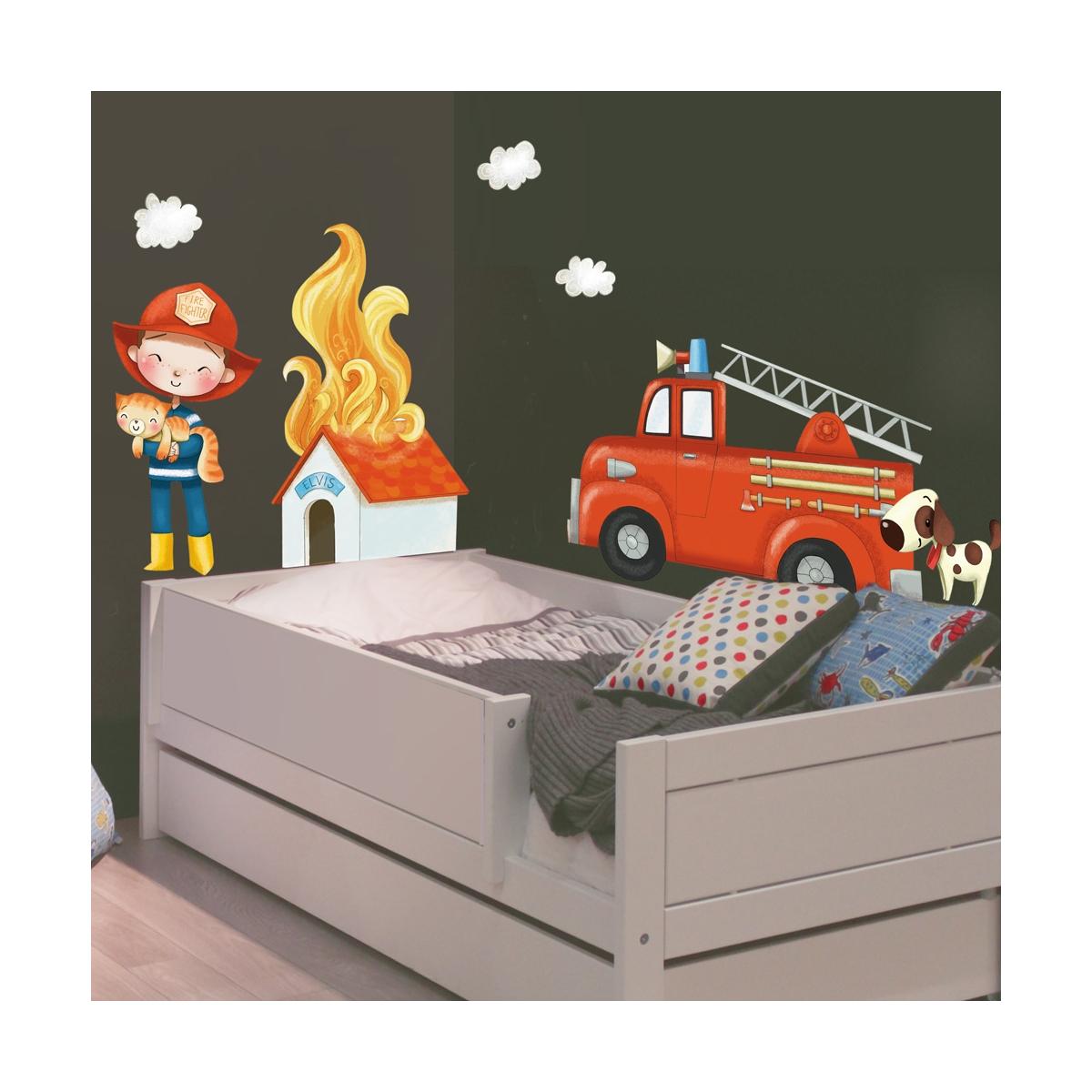 Firemen wall stickers
