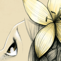 Canvas Wild girl 02