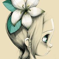 Canvas Wild girl 05