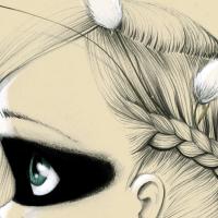 Canvas Wild girl 06
