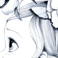 Canvas Wild girl 01-bw
