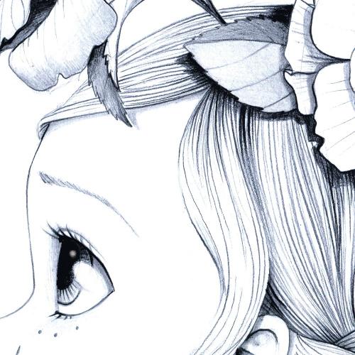 Tableau Wild girl 01-bw