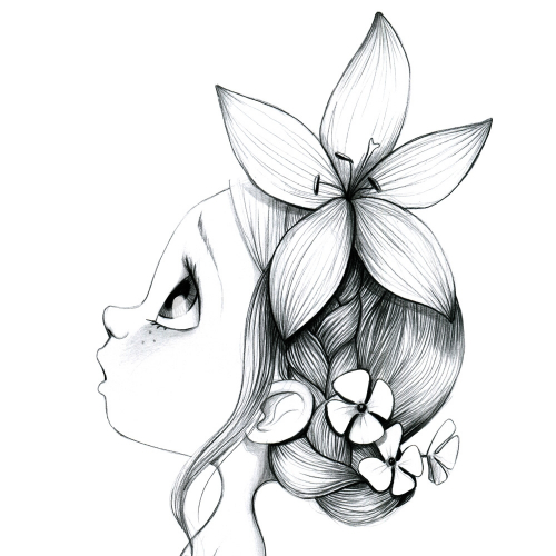 Tableau Wild girl 02-bw