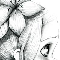 Canvas Wild girl-bw 05
