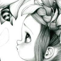 Tableau Wild girl 09-bw