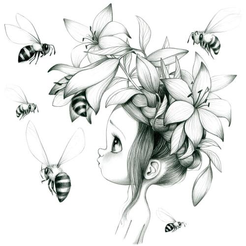 Canvas Wild girl 09-bw