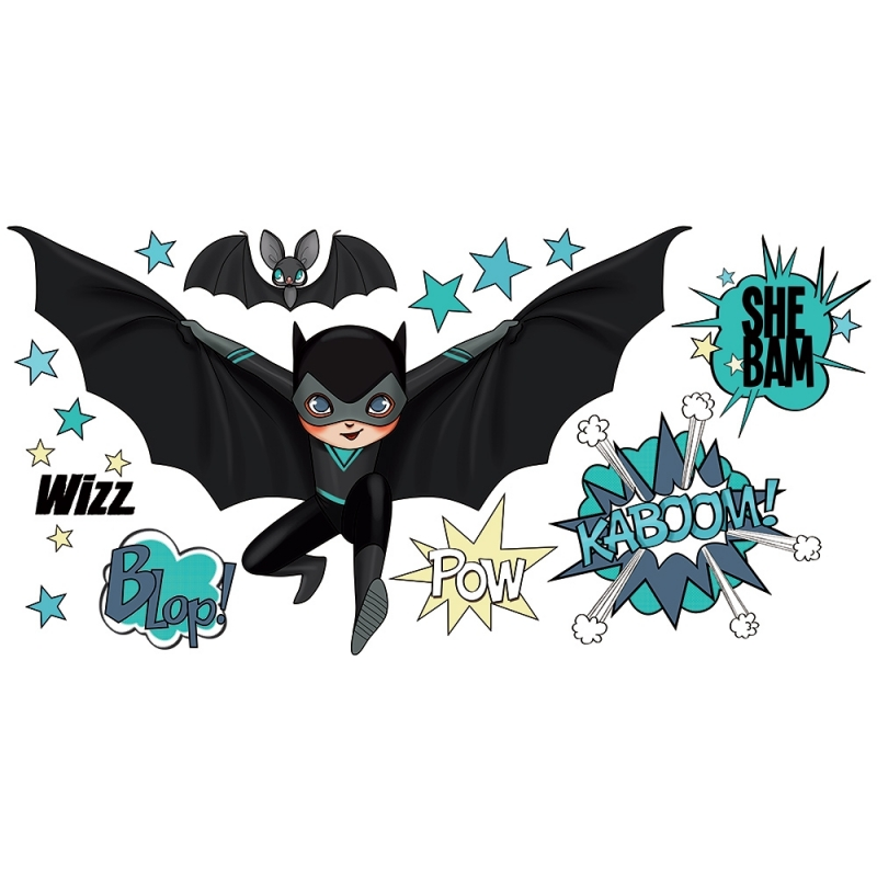 wall stickers super heroes black and bat superhero wall stickers ebay