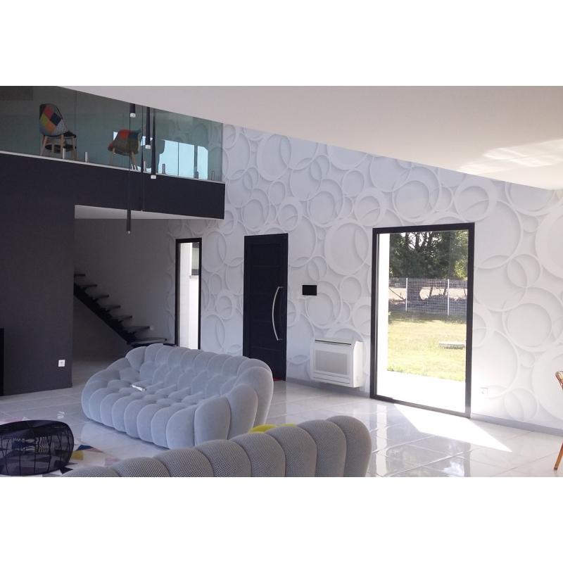 d coration murale effet 3d papier peint contemporain. Black Bedroom Furniture Sets. Home Design Ideas