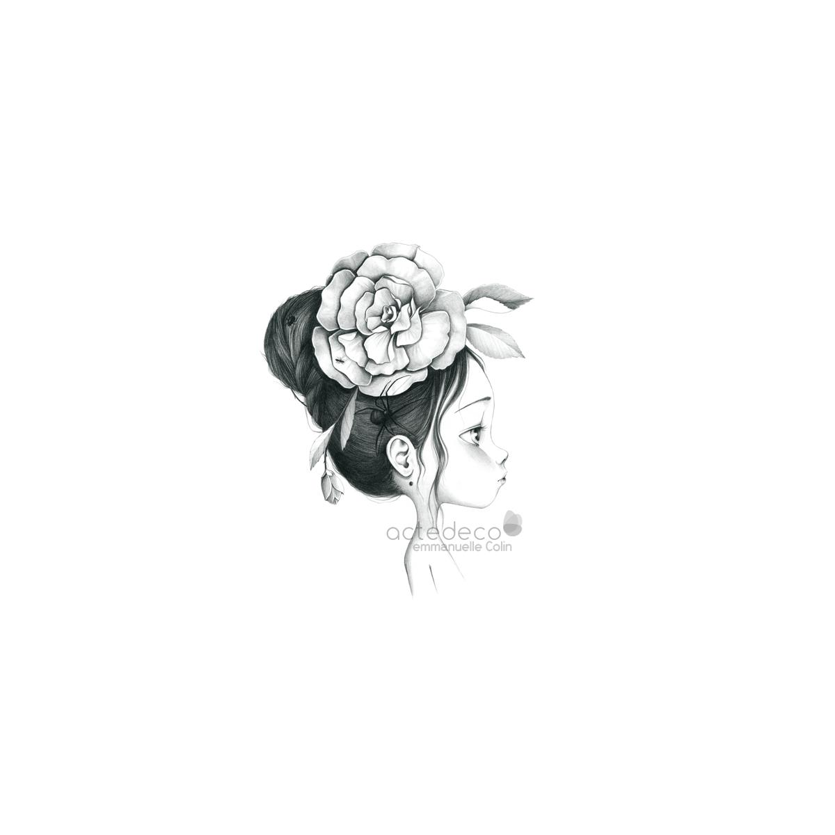 Tableau Wild girl 12-bw
