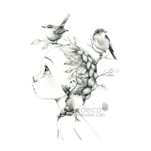 Canvas Wild girl 11-bw