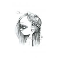 Canvas Wild girl 14-bw