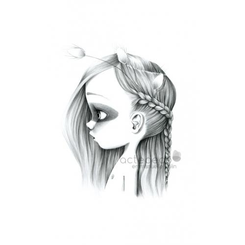 Tableau Wild girl 14-bw
