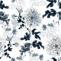 Papier-peint Blue flowers