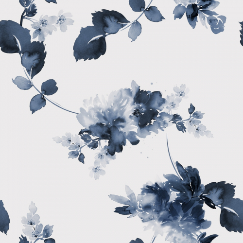 Papier-peint Blue flowers 2