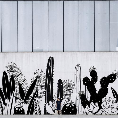 Fresque murale Cactus