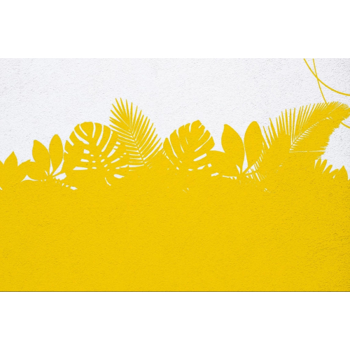Tropical mural fresco