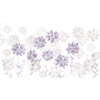 Papier peint Poésie de Fleurs violet