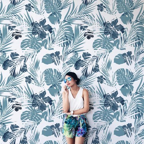 Papier-peint Ext Fleurs tropicales